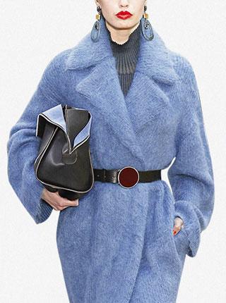 秋冬新款大翻领宽松呢子大衣女中长款毛呢外套
