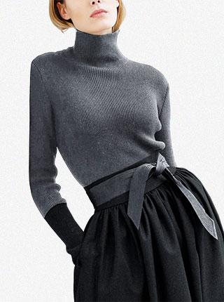 名媛气质针织毛衣半身裙时尚套装裙两件套